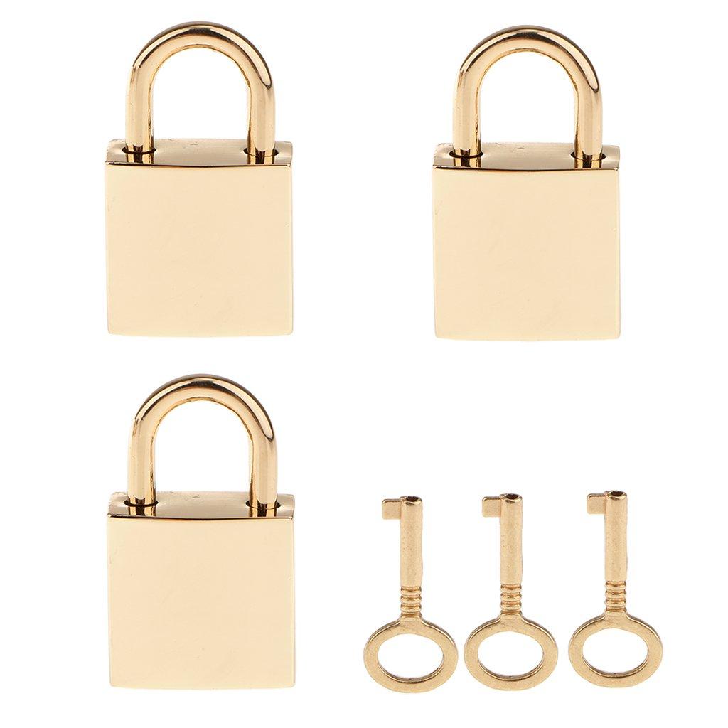 Gold 1pcs Mini Gep/äck Vorh/ängeschloss Kofferschloss 22mm mit Schl/üssel