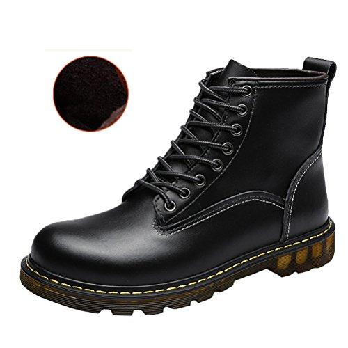 Zapatos de Fleece para MatchLife cordones hombre Schwarz 4axdxnCRqw