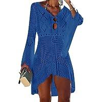 UMIPUBO Vestido de Playa Mujer Suelto Pareos Playa V-Cuello Camisolas y Pareos Ganchillo Vendaje Bikini Traje de Baño…
