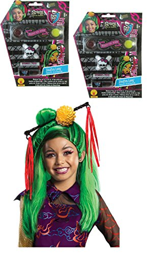 Maven Gifts: Costume Accessories Monster High-2 Make-Up Kits and 1 Jinafire Long Wig (Monster High Jinafire Child Wig)