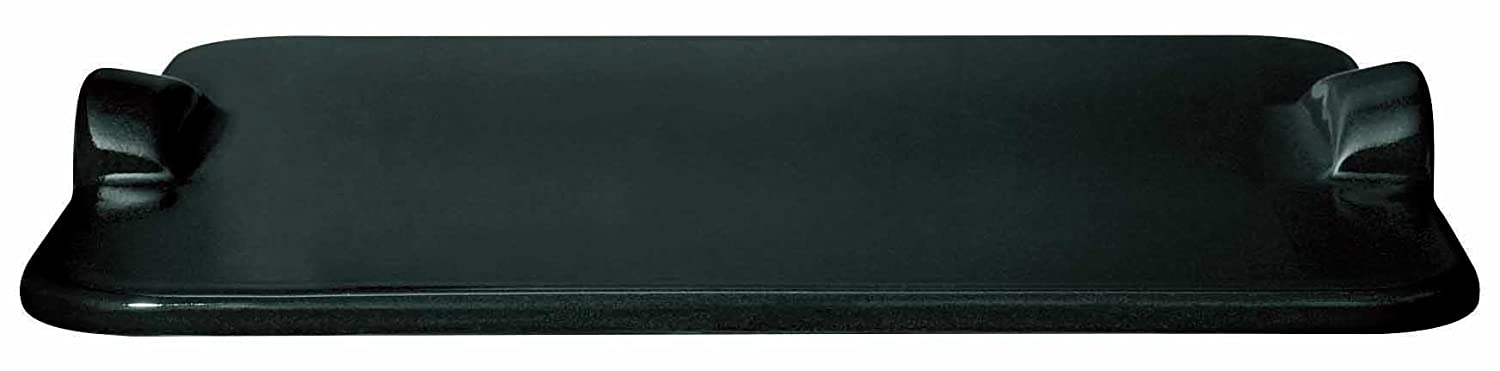 """Emile Henry 797618 Rectangular Grill/Oven pizza stone 18.0"""" x 14.0"""" Charcoal"""