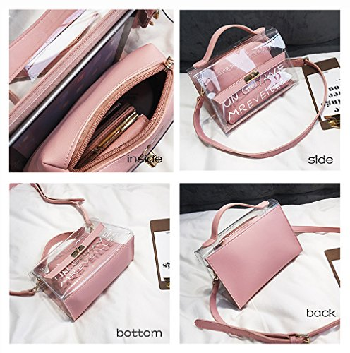 Ms leisnvb01 tracolla Bimbo a Pelle borsa Tendenze HopeEye 1 Pu moda 4 della blu Pink vqnzzBRw