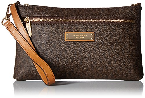 MICHAEL Michael Kors Signature Jet Set Large Wristlet (Michael Kors Jet Set Monogram Signature Tote)