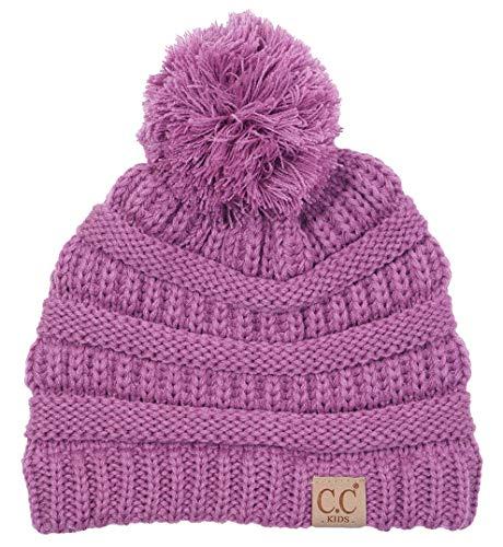 H-6847-61 Girls Winter Hat Warm Knit Slouchy Toddler Kids Po