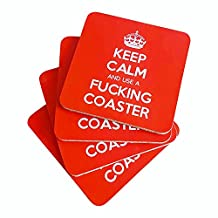 Funny Gift - Keep Calm and Use a Fucking Coaster - Funny Coaster for parties or any adult occassion - Great Housewarming Gift Idea!