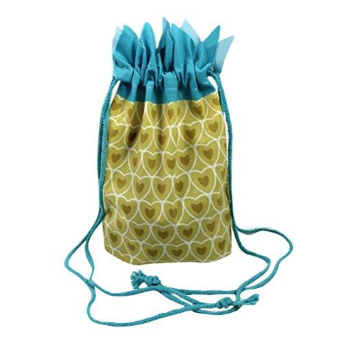 Kolylong Lovely sunmmer pineapple Fruit Design Drawstring Bag, Beach Shoulder Bag Satchel Rucksack Handbag Backpack Bag (S: 23X25cm, A) A