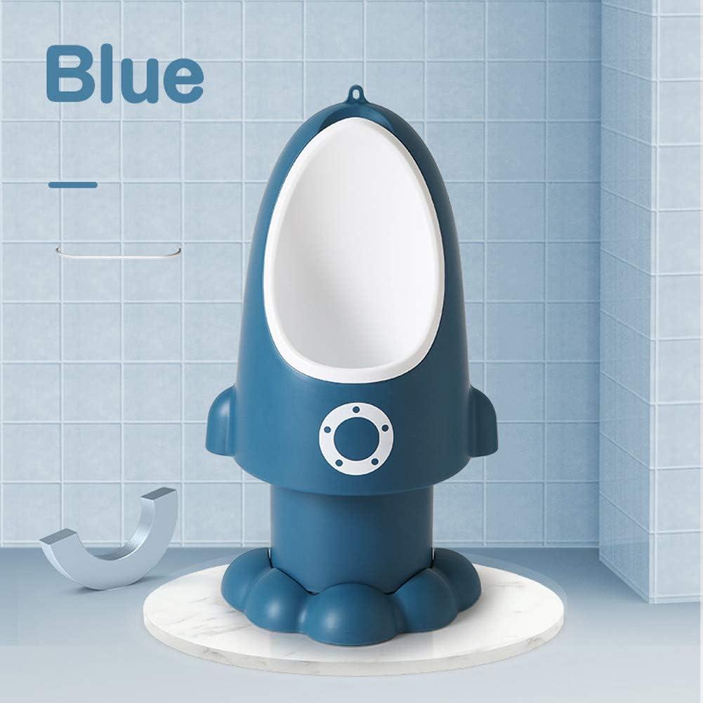 Urinoirs Mignons de Formation de Pot avec la fus/ée dr/ôle pour la Toilette denfants de Bambins denfants de gar/çons,Blue