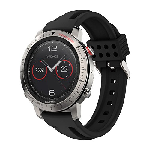 Hero Iand Waterproof Watch Strap Replacement Silicone Soft Band Strap for Garmin Fenix Chronos GPS Watch Sport Bracelet Accessories