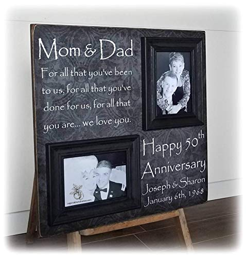 Then and Now Picture Frame, 50th Anniversary Gift, Gold Anniversary, Gifts for parents, 25th Anniversary, Anniversary Frame 20x20