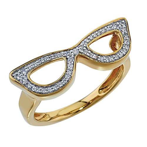 Sunglasses Ring 1/5 ct tw Diamonds 10K Yellow Gold by AX Jewelry