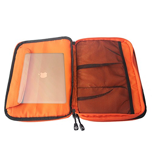 waterproof Ipad organizer USB data cable earphone wire pen power bank travel storage bag kit case digital gadget devices by Unknown (Image #6)