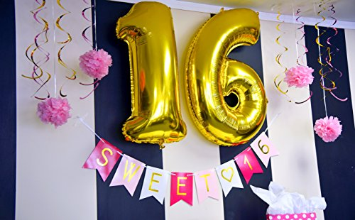 Sweet 16 Birthday Party Pack Sixteen Decorations