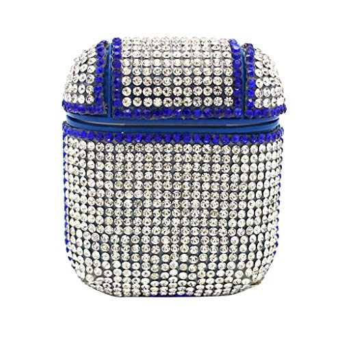 ❤️Byedog❤Bling Luxurious Diamonds Cute Protective Case Cover for Airpods Earphones (Blue)