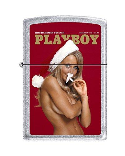 Zippo Playboy Cover December 1970 Pocket Lighter, Satin Chrome