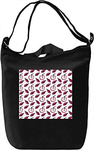 Apple Print Borsa Giornaliera Canvas Canvas Day Bag| 100% Premium Cotton Canvas| DTG Printing|