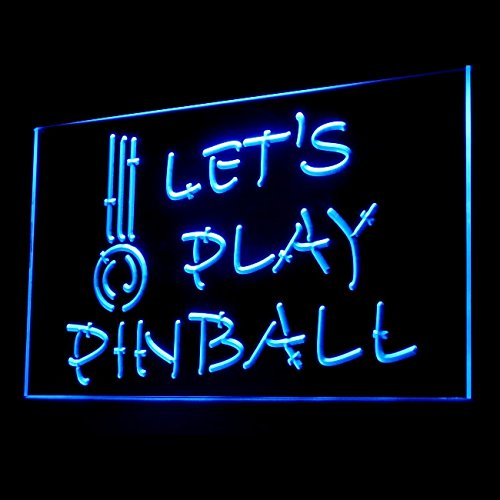 230042 Let's Play Pinball Trippy Amusement Machine Display LED Light Sign