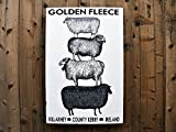 Stack Sheep: 24x36'' - Salvaged Wood Wall Decor - Handmade in Sonoma Valley, CA - Perfect for Home or Office - Rue Sonoma Original Design