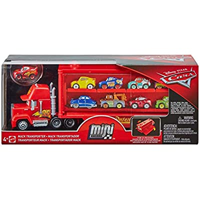 Disney Pixar Cars Mini Racers Mack Transporter: Toys & Games