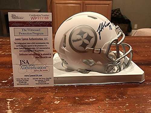 James Harrison Signed Riddell Pittsburgh Steelers Ice Mini Helmet Witness - JSA Authentic Autograph