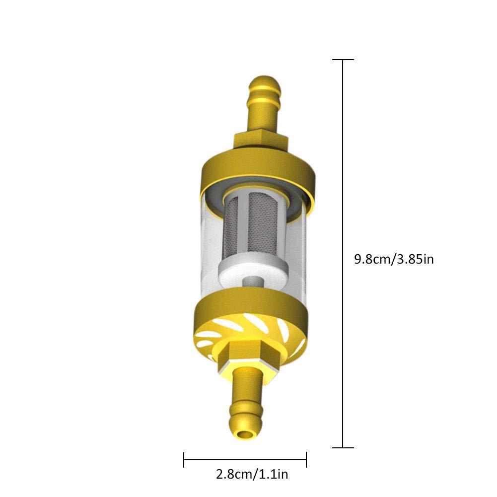 Eine-Shop Gas Kraftstofffilter Motorrad /Ölfilter Glas Benzin Filter-Aluminiumlegierung Und Hochwertiges Glas