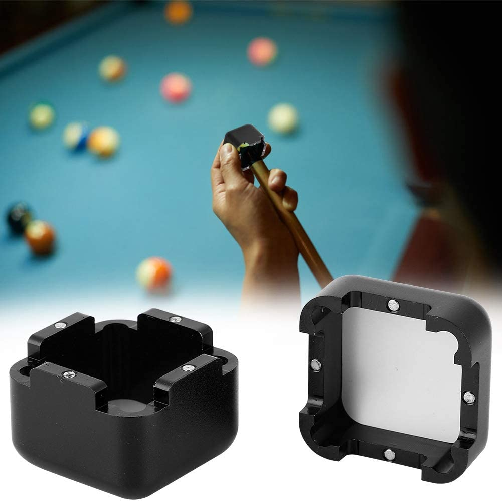 Alomejor Pool Chalk Holder Billar Pool Cue Chalk Holder Magnetic Snooker Stick Tip Chalk Case