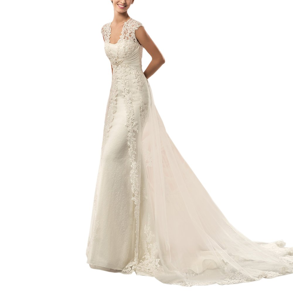 442c9bb1a8 ... Women s Lace Mermaid Beach Wedding Dresses Bridal Gown with Tail.  Wholesale Price 109.00 -  129.00 1.Farbic  Lace Tulle 2. Notice Please  Select the Size ...