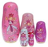 (US) Set of 5 Cutie Lovely Lucy Locket Angel Nesting Dolls Matryoshka Madness Russian Doll Popular Handmade Kids Girl Gifts Toy