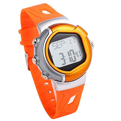 Price comparison product image lt-select New Orange Heart Rate Monitor Watch - Best for Men & Women - Running,  Jogging,  Walking,  Gym Exercise,  Iron Man,  Cycling,  Sports - Digital Timer Stop Watch,  Alarm Multi Function - Reduce Stress for Healthy Lifestyle, AK0925