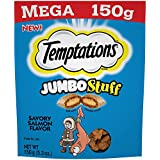 Temptations Jumbo Stuff Cat Treats Savory Salmon Flavor, (10) 5.3 Oz. Pouches