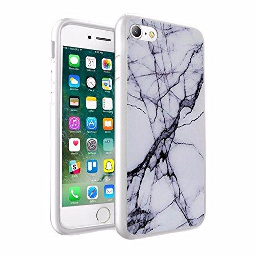 iPhone X Hülle, einzigartige Custom Design Prodective harte zurück dünner dünner Fit PC Bumper Case Kratzfeste Abdeckung für iPhone X - Marmor Design 010
