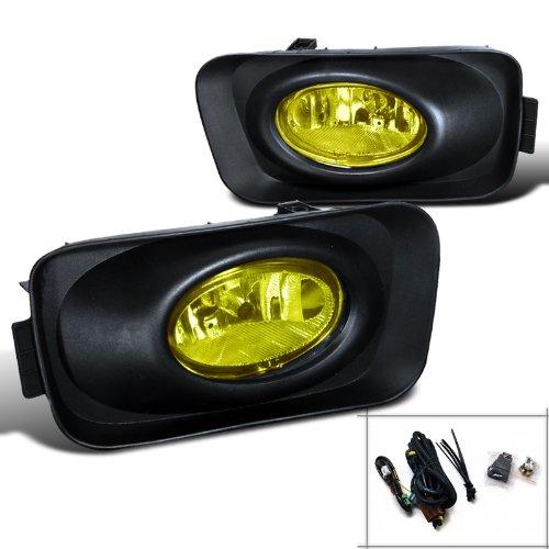 Spec-D Tuning LF-TSX04AMOEM Acura Tsx Base 4 Door Sedan, Jdm Yellow Lens Fog Lights Black Casing ()