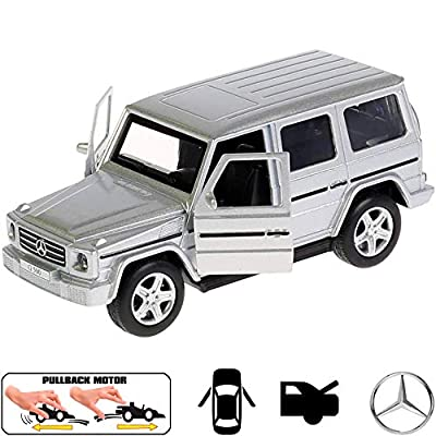 Diecast Metal Model Car Mercedes-Benz G-Class G-Wagen Gelandewagen Silver Toy: Toys & Games