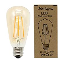 MBO E27 Vintage Edison Bulb LED 4W 6W 3000K Warm White AC85-265V Non-dimmable for Indoor Table Lamps & Pendant (4)