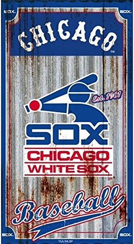 "Team Sports America Chicago White Sox 21.5"" x 12"" Corrugated Metal Wall Art Est. 1901"