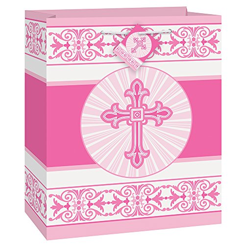 Radiant Pink Cross Religious Gift -