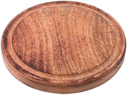 Tabla de madera surco como posavasos para servir Sartenes
