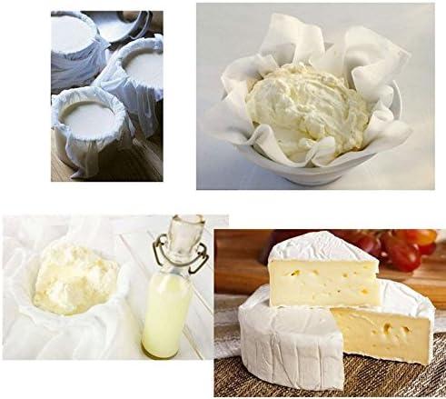 leche de nueces de tensi/ón Basting Turqu/ía hacer queso cocina Esnow 5pcs 100/% algod/ón Uncleached algod/ón reutilizables filtro o tamiz para decoraciones de Navidad 20 SqFt // 3 yardas