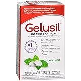 Gelusil Antacid, Anti-Gas Chewable Tablets, Mint 100 ea