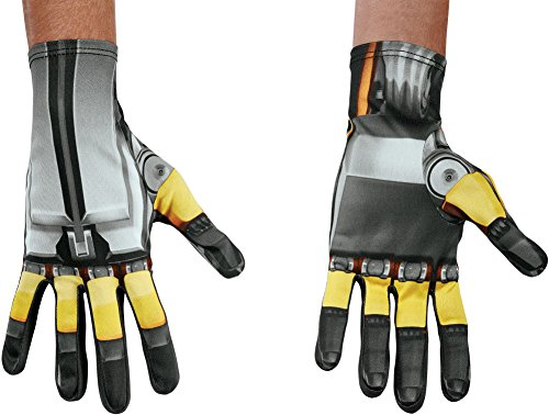 Mens Transformers The Last Knight Bumblebee Gloves Costume -