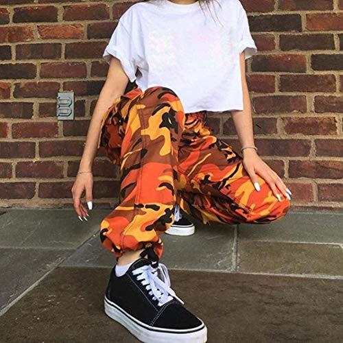 Bolsillos Exteriores Camuflaje Carga Botones Camo Naranja Laterales Para Mujer Deportivo De Baile Vaqueros Pantalones Stretch Huixin Street O7wFP4nSqx