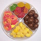 Scott's Cakes 4-Pack Pectin Fruit Gels, Lemon Drops, Peach Rings, & Chocolate Malt Balls