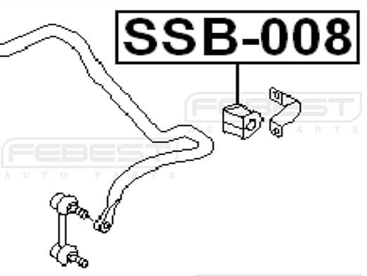 1997-2003 Rear Stabilizer Bushing D13 For Subaru Liberty Outback B12