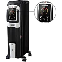 Oil Filled Radiator Heater, Digital Electric Full Room Oil Heater with LED Display Screen Remote Control