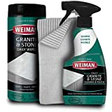Weiman Granite Cleaner Kit - Non Toxic For Granite Marble Soapstone Quartz Quartzite Slate Limestone Corian Laminate Tile Countertop