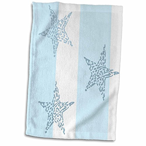 3dRose-PS-Creations-Blue-and-White-Stars-and-Stripes-Beach-Theme-Art-Towel