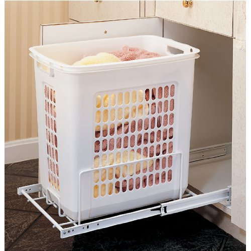 Rev-A-Shelf Pullout Hamper, White