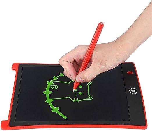 人間工学に基づいたデザインの手書きタブレット、目の保護用手書きボード、子供向けの描画用(red)