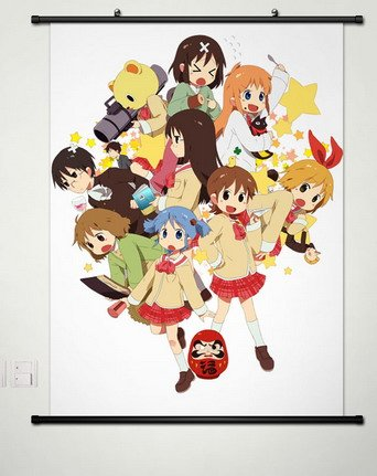 Home Decor Anime Nichijou no 0-wa Aioi Yuuko whole roles poster wall Scroll Cosplay 23.6 X 35.4 Inches -001 (17.7 X 23.6 Inches)