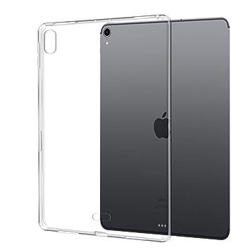 Funda iPad Pro 12.9 2018 TopACE Funda Transparente Suave TPU Gel Enjaca Funda Protectora Flexible y Ligera para iPad Pro 12.9 2018 (Transparente)