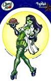 Cherry Redd - Zombie Brain Pinup Girl - Sticker / Decal